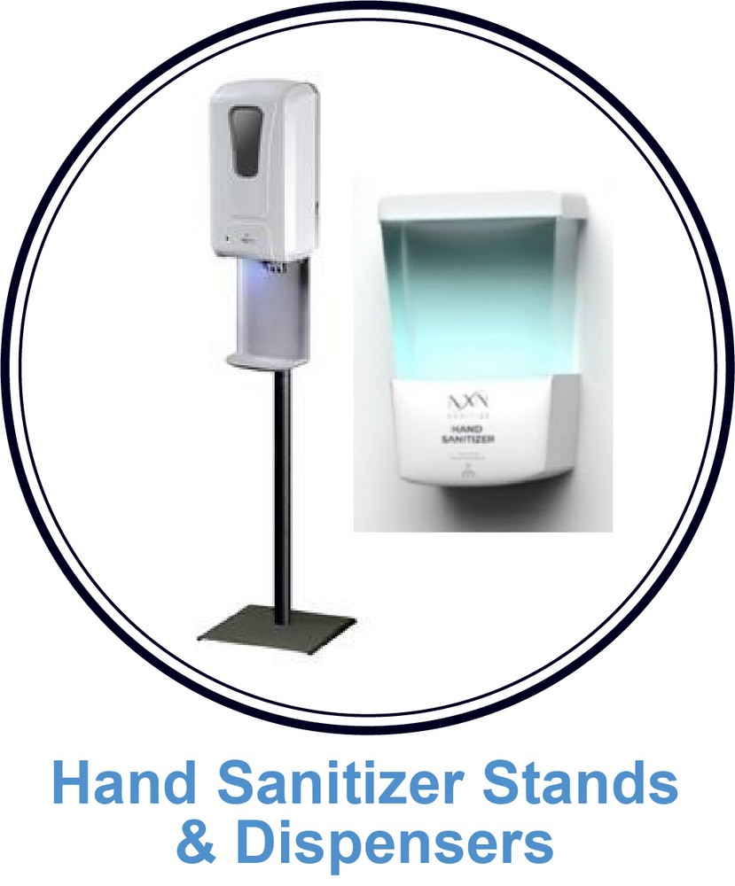 6. Hand Sanitizer Stands and Dispensers